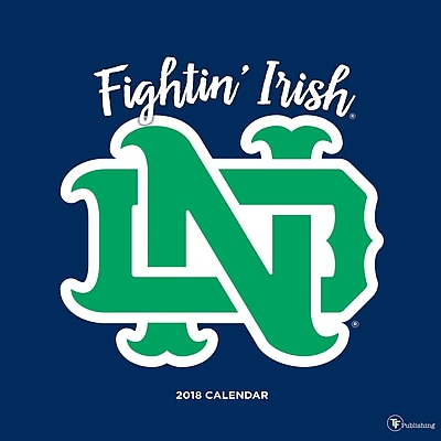 Tf Publishing 2018 University Of Notre Dame Wall Calendar (18-1131)