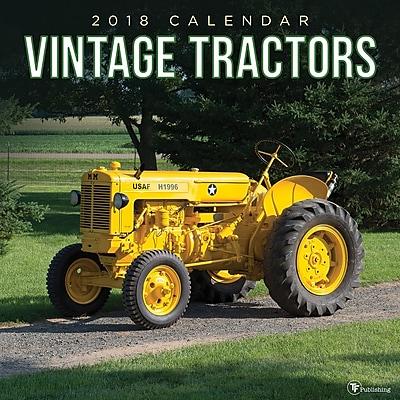Tf Publishing 2018 Vintage Tractors Wall Calendar (18-1147)
