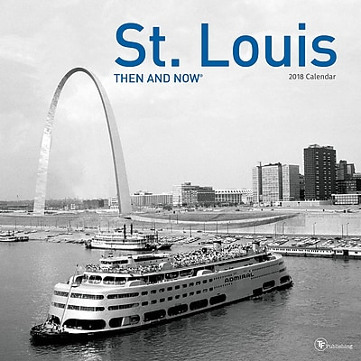 TF Publishing 2018 St. Louis, Then And Now Wall Calendar (18-1316)