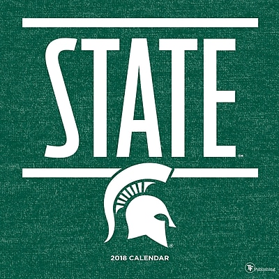 Tf Publishing 2018 Michigan State University Wall Calendar (18-1129)