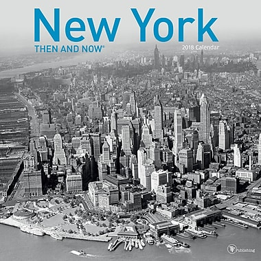 Tf Publishing 2018 New York - Then And Now Wall Calendar (18-1311)