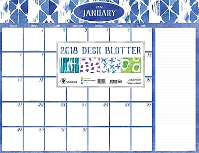Tf Publishing 2018 Watercolor Desk Blotter (18-8204)