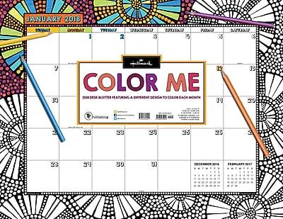 Tf Publishing 2018 Color Me By Hallmark Desk Blotter (18-8018)