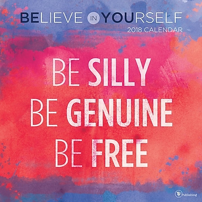Tf Publishing 2018 Believe In Yourself Wall Calendar (18-1023)