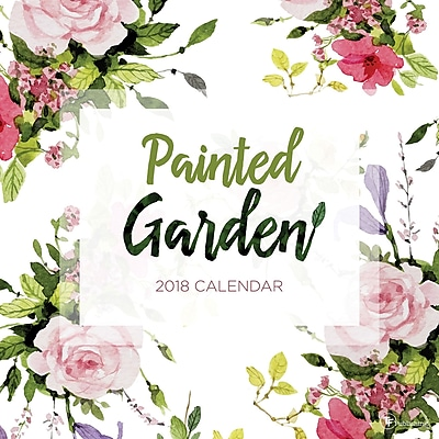 Tf Publishing 2018 Painted Garden Wall Calendar (18-1017)