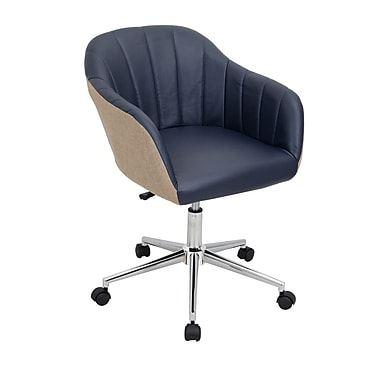 Lumisource Shelton Contemporary Faux Leather Office Chair