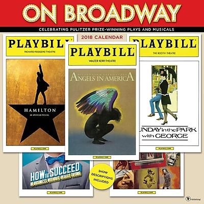 Tf Publishing 2018 On Broadway Wall Calendar (18-1056)