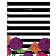 Tf Publishing 2018 Striped Floral Large Weekly Monthly Planner (18-9705)
