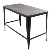 Pia Home Office Desk With Espresso Wood Top and Metal Frame (OFD-PIA BK+E)