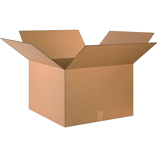 "24"" x 24"" x 16"" Shipping Boxes, 32 ECT, Single Wall, Brown, 20/Bundle (242416)"