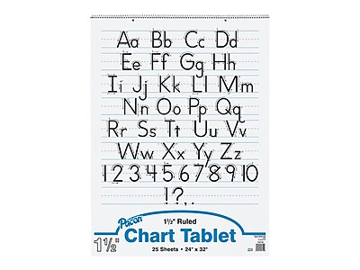 25 Sheets Pack of 6 Pacon PAC74720BN Chart Tablet 24 x 16 1-1//2 Ruled Manuscript Cover
