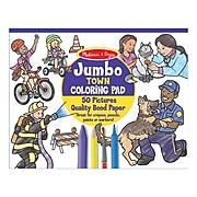 Melissa & Doug Jumbo Town Coloring Pad, Ages 3+ (30250)