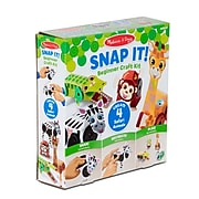 Melissa & Doug Snap It! Beginner Craft Kit, Safari, Ages 3+ (30190)