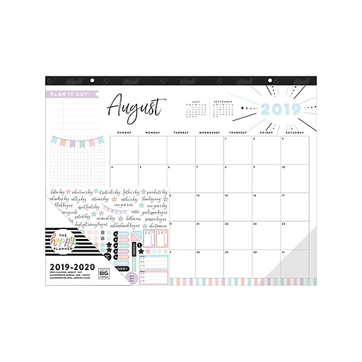 2020 Desk Calendar.The Happy Planner 22 X 17 Desk Calendar August 2019 July 2020 Pdc 08