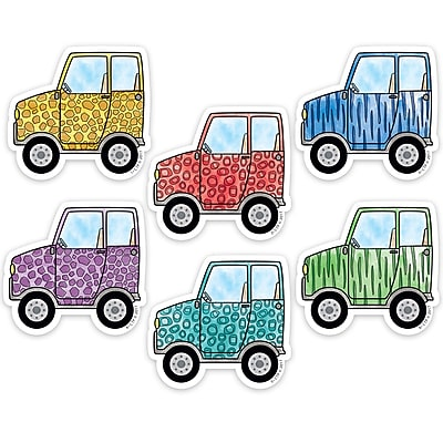 "Creative Teaching Press 3"" Designer Cut-Outs, Safari Friends Off-Road Vehicles (CTP3449)"