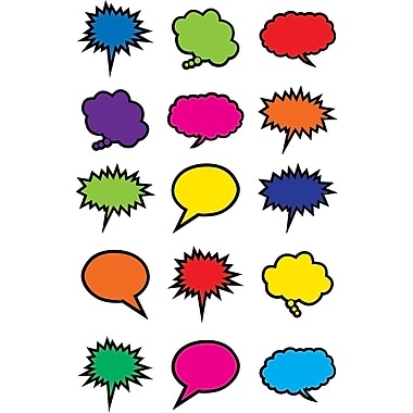 Teacher Created Resources Colorful Speech/Thought Bubbles Mini Accents, 36/Pack (TCR2144)