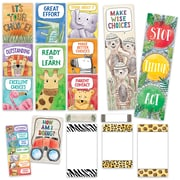 Creative Teaching Press Safari Friends Behavior Clip Chart Mini Bulletin Board, 21/Set (CTP2174)