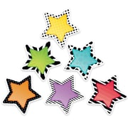 "Creative Teaching Press 6"" Designer Cut-Outs, Bold & Bright Stars (CTP3360)"