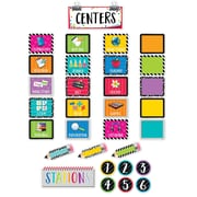 Creative Teaching Press Bold & Bright Classroom Centers Mini Bulletin Board, 35/Set (CTP2173)