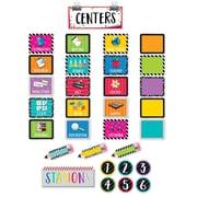 Creative Teaching Press Bold & Bright Classroom Centers Mini Bulletin Board, 35/Set (CTP2173)