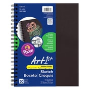 "Art1st® Create Your Own Sketch Diary, 8.5"" x 11"", Black Cover, 50 Sheets per diary, bundle of 3 diaries (PAC4779)"