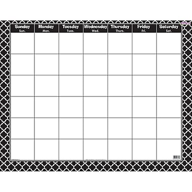 Trend Enterprises® Wipe-Off® Monthly Calendar, Moroccan Black (T-27023)