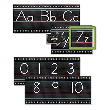 Teacher Created Resources Chalkboard Brights Alphabet Line Bulletin Board Set, 13/Set (TCR5621)