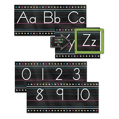 Teacher Created Resources Chalkboard Brights Alphabet Line Bulletin Board Set, 13/Set (TCR5621)