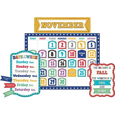 Teacher Created Resources Marquee Calendar Bulletin Board, 84/Set (TCR5636)