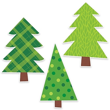 Creative Teaching Press Patterned Pine Trees Bulletin Board , 3/Set (CTP7073)
