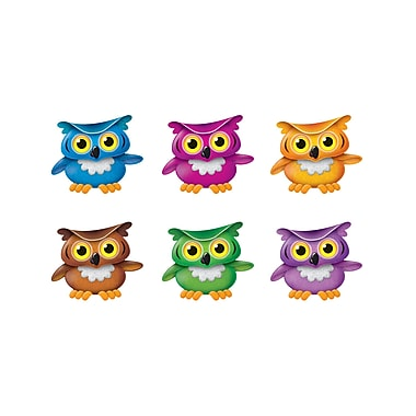 Trend Bright Owls Mini Accents Variety Pack, 36/Pack (T-10875)