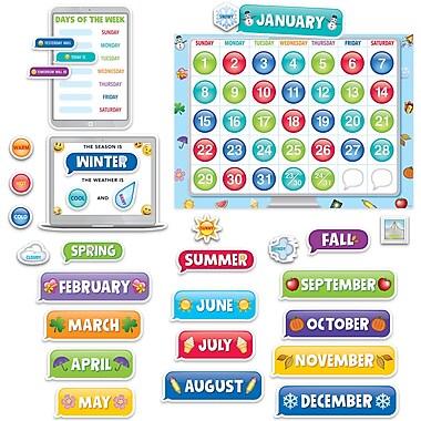 Creative Teaching Press Emoji Fun Calendar Set Bulletin Board, 48/Set (CTP2649)