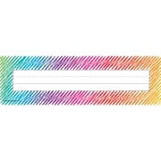Teacher Created Resources Colorful Scribble Name Plates, 36 per pack, bundle of 3 packs, 11.5 x 3.5 (TCR2690)