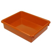 "Romanoff Plastic Stowaway® Letter Tray, 3"", Orange, bundle of 3 (ROM15109)"