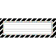 "Creative Teaching Press Bold & Bright Bold Stripes & Dots Name Plates, 36 per pack, bundle of 6 packs, 9 1/2"" x 3 1/4"" (CTP4299)"