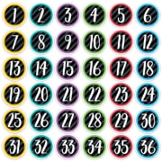 """Creative Teaching Press 3"""" Designer Cut-Outs, Bold & Bright Student Numbers (CTP8092)"""