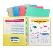 "C-Line® Clipboard Folder for 8 1/2""x11"" sheets, Assorted Colors, bundle of 6 (CLI30600)"