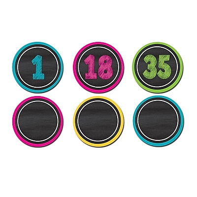 Teacher Created Resources Chalkboard Brights Numbers Magnetic Accents, 42/Pack (TCR77280)