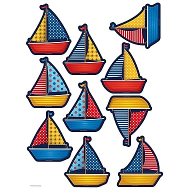 Teacher Created Resources Sailboats Accents, 30/Pack (TCR5656)