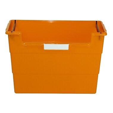 Romanoff Plastic Desktop Organizer, Orange, Bundle of 6 (ROM77609)