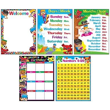 Trend Classroom Basics BlockStars!® Learning Chts Combo Pk, set 5 (T-38981)