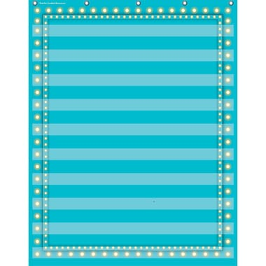 Teacher Created Resources 10 Pocket Pocket Chart, Light Blue Marquee (TCR20778)