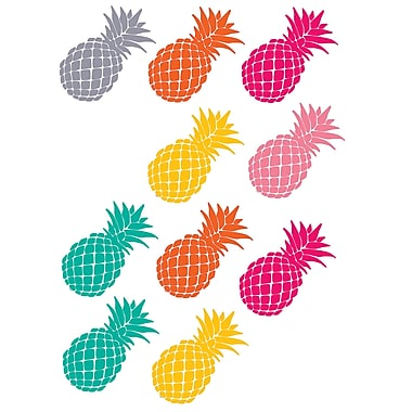 Teacher Created Resources Tropical Punch Pineapples Accents, 30/Pack (TCR2156)