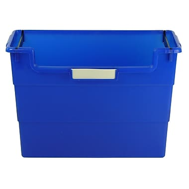 Romanoff Plastic Desktop Organizer, Blue, Bundle of 6 (ROM77604)