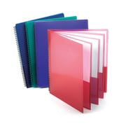 Oxford® 8-Pocket Poly Portfolios, Letter Size, Assorted Colors, Bundle of 5 (ESS5740404)