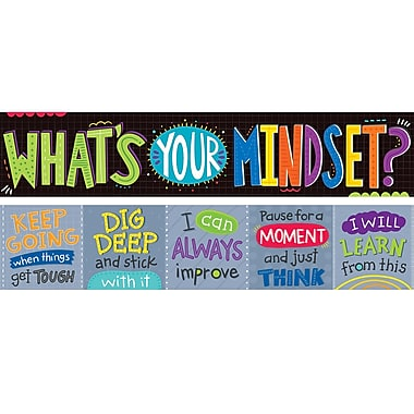 Creative Teaching Press – « What's Your Mindset? » Bannière (CTP8151)