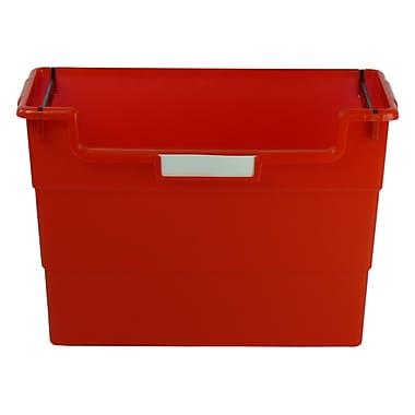 Romanoff Plastic Desktop Organizer, Red, Bundle of 6 (ROM77602)