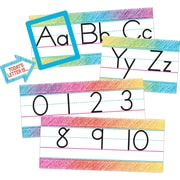 Teacher Created Resources Colorful Scribble Alphabet Line Bulletin Board, 14/Set (TCR3052)