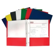 C-Line® Recycled Paper Portfolio With Prongs, 2 Pocket, Assorted Colors, 48 ct (CLI05320)