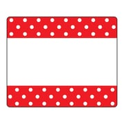 Trend Polka Dots Red Terrific Labels™, 216/Set (T-68043)